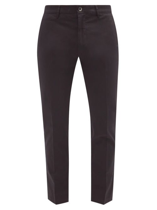 Barena Venezia - Marpin Slim-leg Stretch-cotton Chino Trousers - Mens - Black