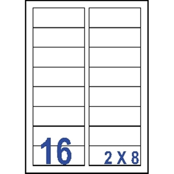 unistar 裕德3合1電腦標籤紙 (14) us4479 16格 (100張/包)