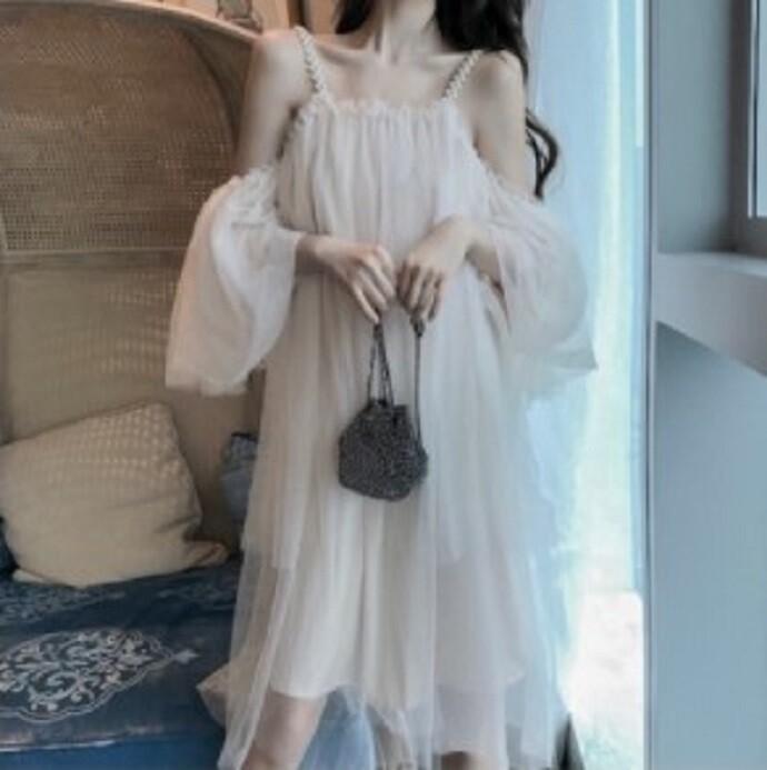甜美網紗連衣裙