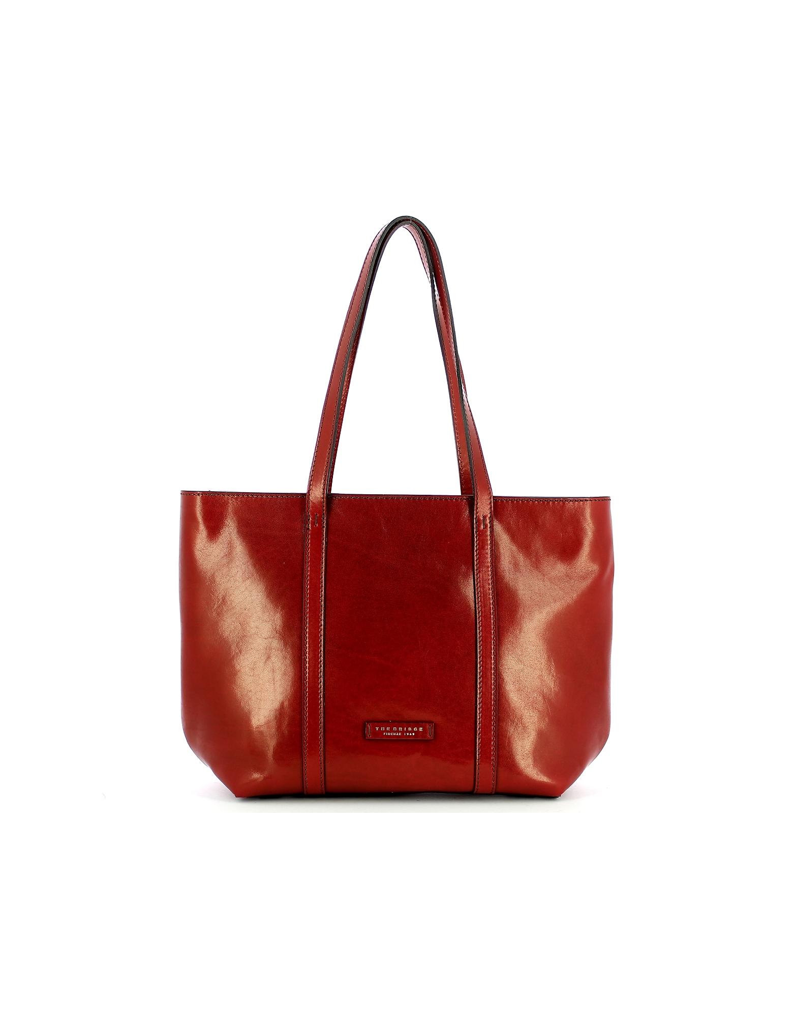 The Bridge 手袋, Red Vittoria Tote Bag