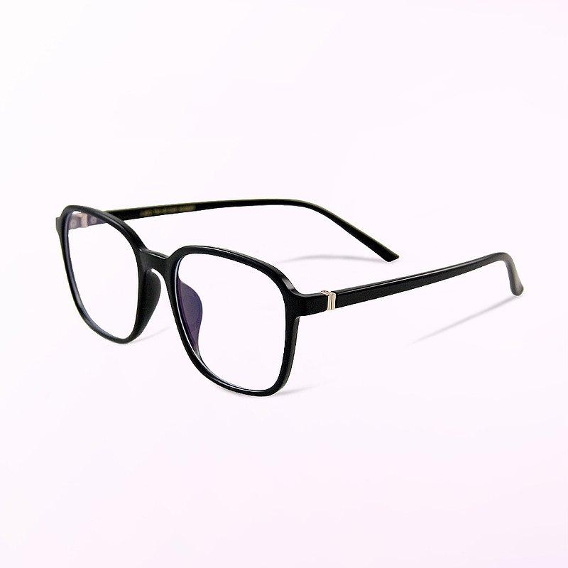 薩爾斯堡的蕭默青丘│鋼琴黑TR90輕量幾何方框UV400濾藍光眼鏡