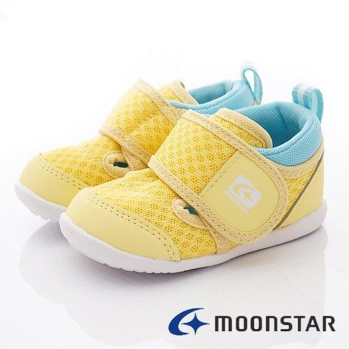 日本月星機能童鞋-速乾寶寶學步款-MSCNB2533黃-(13cm-14.5cm)