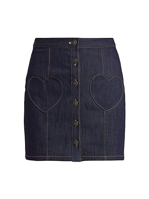 Vivien Heart Pocket Denim Skirt