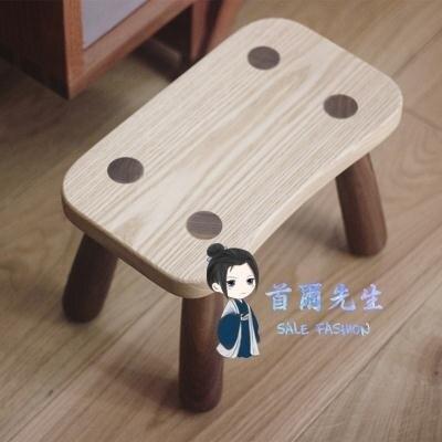 矮凳 實木簡約換鞋胡桃木白蠟木小板凳兒童矮凳創意insT