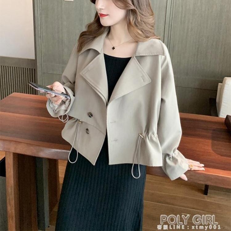 新年鉅惠▶風衣外套 工裝風衣女小個子2020新款秋裝韓版寬鬆學生短款薄外套英倫風大衣
