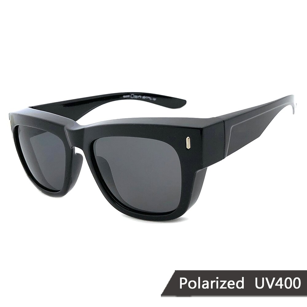 MIT偏光太陽眼鏡 經典黑灰款墨鏡 抗UV/可套鏡(94800)