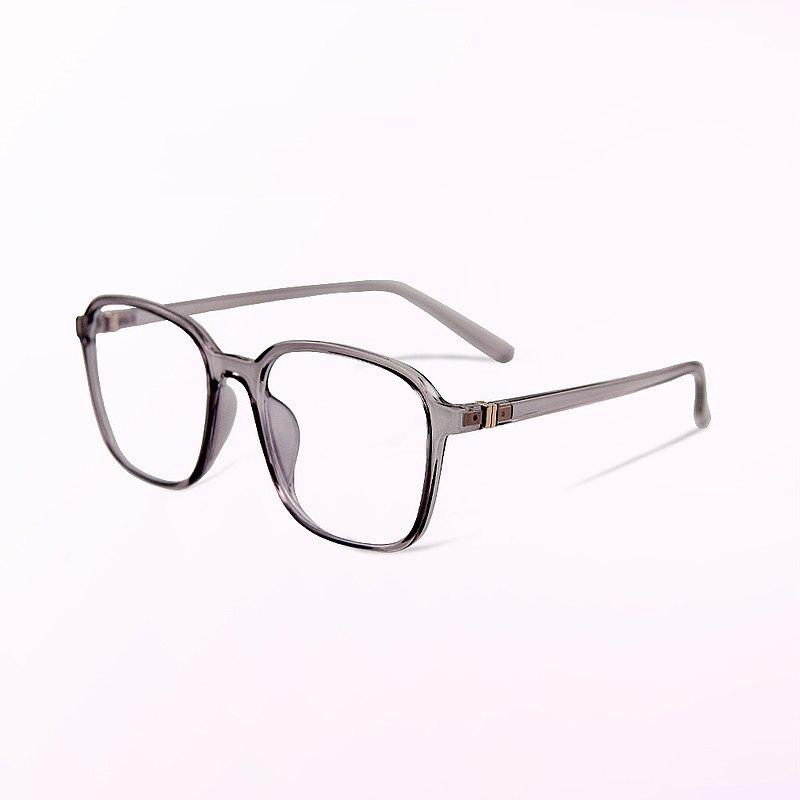 維也納的淨恬涓流│透視感冰晶紫TR90幾何方框UV400濾藍光眼鏡