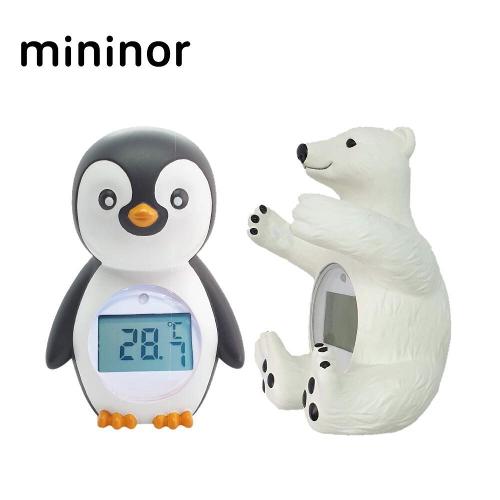 mininor 丹麥 動物造型溫度計 新生兒洗澎澎