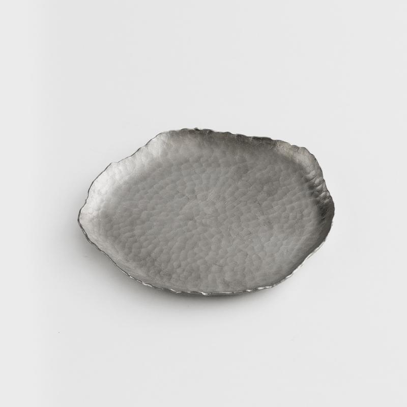 職人 錘目工藝 13cm 錫器淺盤|異邊|單品