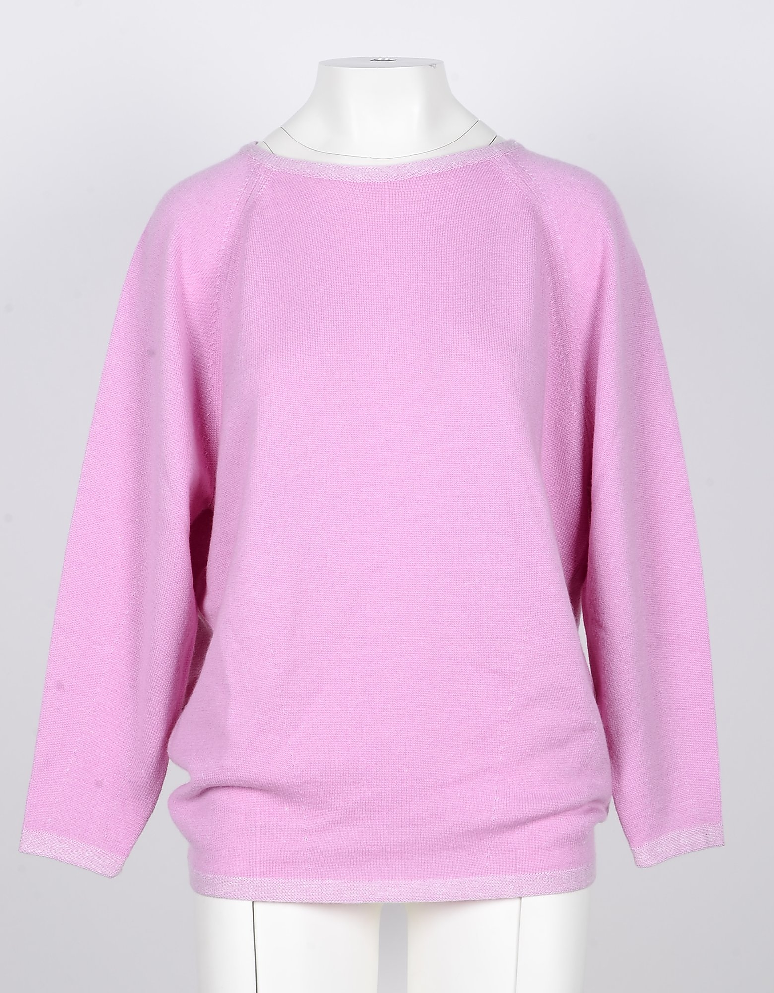 Lamberto Losani Knitwear, Pink Cashmere, Linen and Silk Women's Sweater