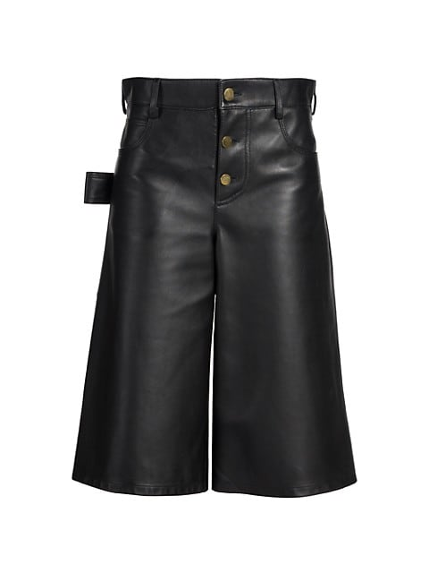 Leather Satine Shorts