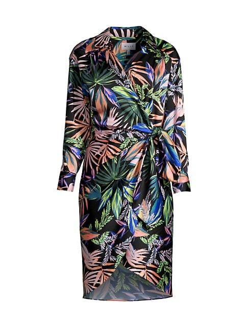 Jordan Tropical Wrap Dress