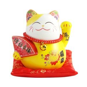 五寶吉祥4.5吋招財貓-黃