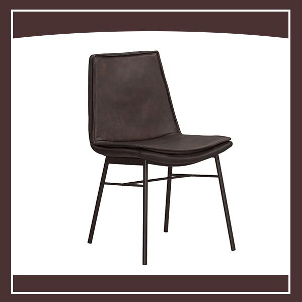海格餐椅(棕色皮)(五金腳) 210571065005