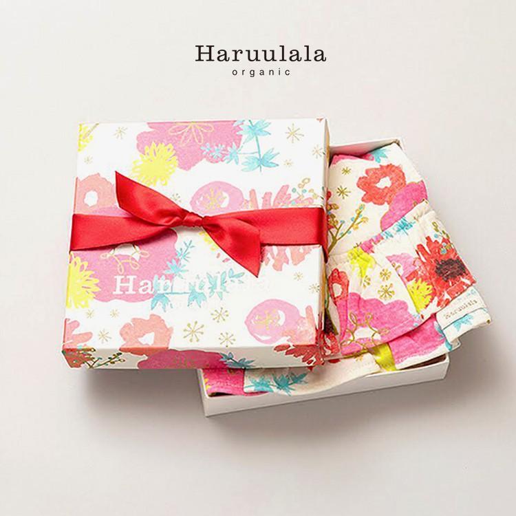 日本Haruulala【圍兜兜禮盒】有機棉 / 免費繡字 / 女寶新生兒禮盒 / 現貨在日本(空運2~10天)