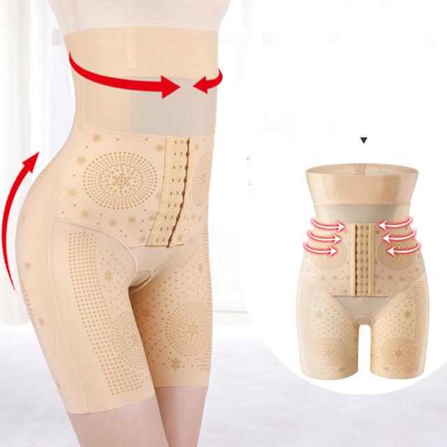 Foxbi,塑身褲天fo妃排扣五分褲修飾後脫塑身褲(M-3L)