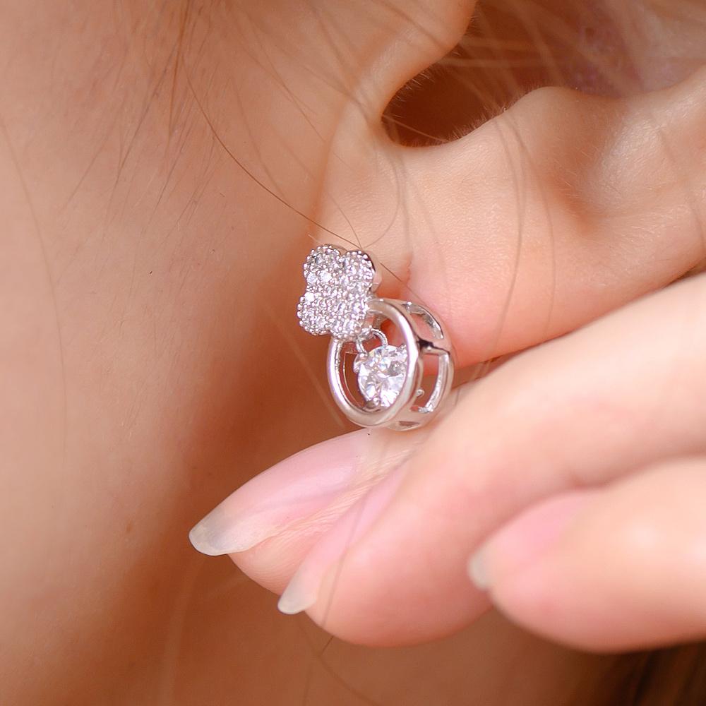 氣質經典符號925銀針耳環(2色)-A10288
