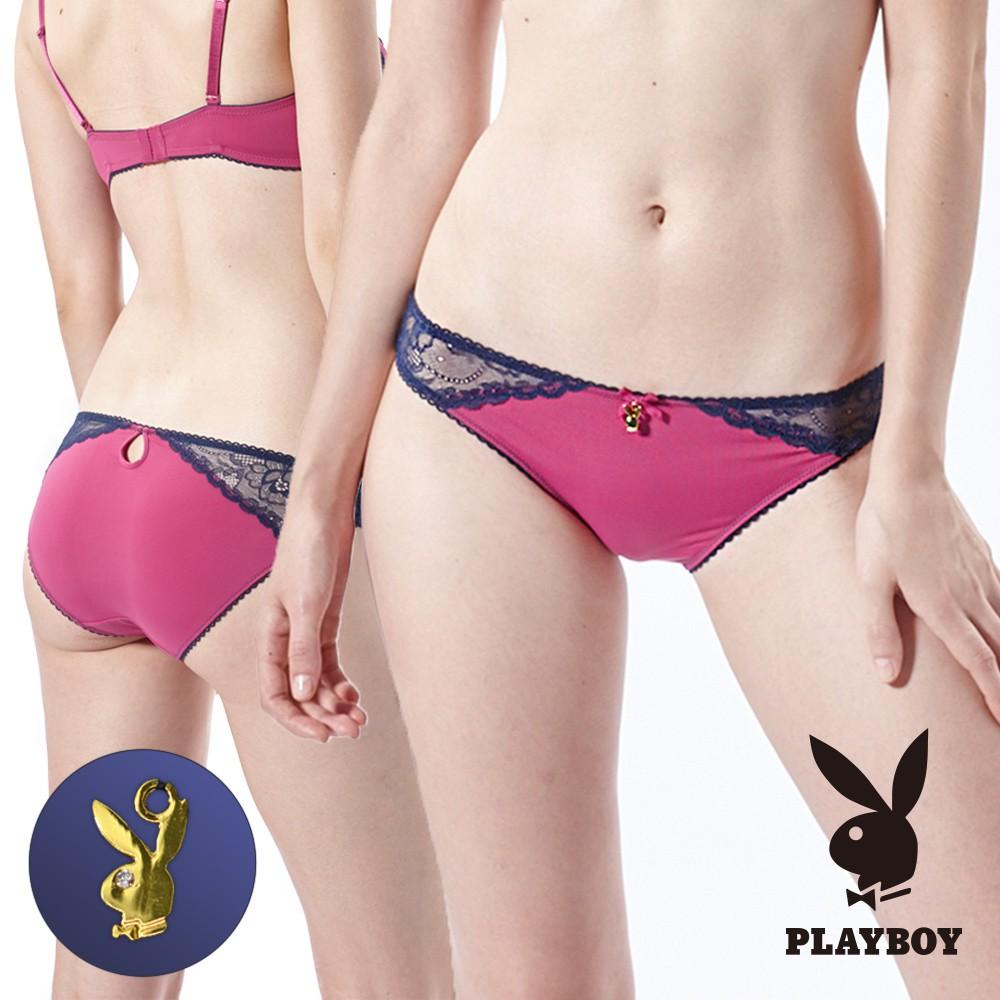 【PLAYBOY 女性內衣】性感雙色蕾絲美型內褲