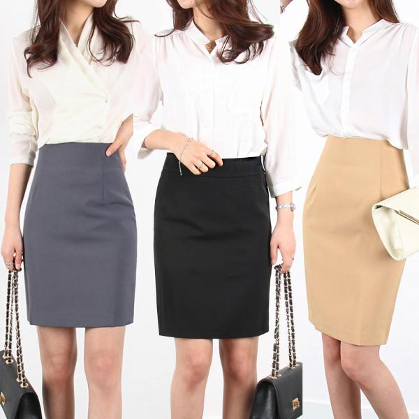 [MIU] 漂亮的版型 H型裙子/裙褲/S-3XL 大尺碼女士服飾/高腰/鬆緊帶/長款裙子/正裝/制服