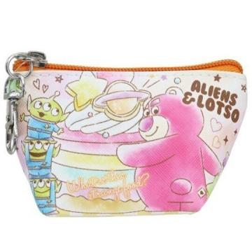 小禮堂 迪士尼 玩具總動員 船形皮質零錢包 掛飾零錢包 小物包 (橘桃 鬆餅)