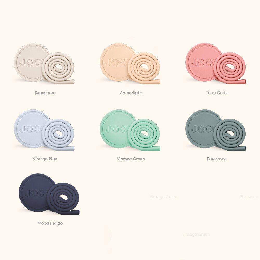 澳洲JOCO啾口可收納環保矽膠吸管-7吋-四色可選