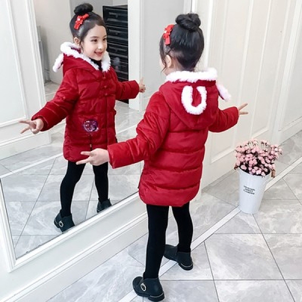 拜年服 喜慶童裝女童唐裝棉衣2020新款兒童中國風拜年服女寶寶新年裝棉服過年冬裝