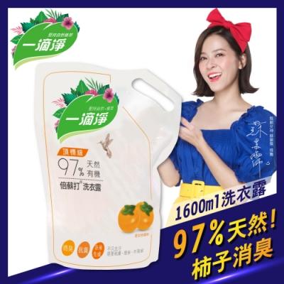 一滴淨天然酵素消臭洗衣露補充包 柿子精粹洗衣精 1600ml