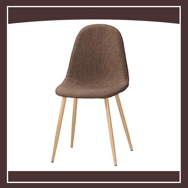 芬妮餐椅(棕色布)(五金腳) 210571063014