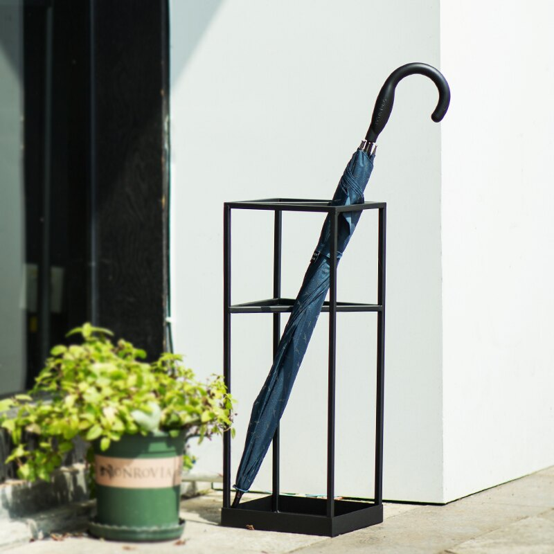 傘架 創意幾何北歐雨傘架家用客廳雨傘收納架傘桶酒店大堂商用放傘架子 置物收納【DD31555】