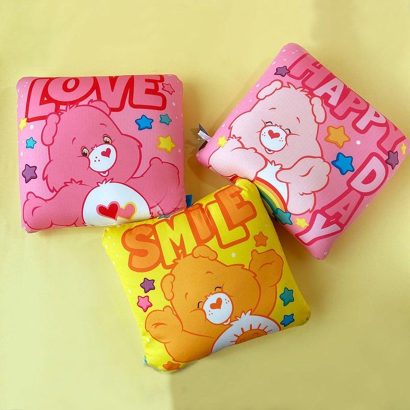 彩虹小熊 Care Bears 正版授權 -方形泡沫粒懶骨頭靠墊 抱枕 腰枕