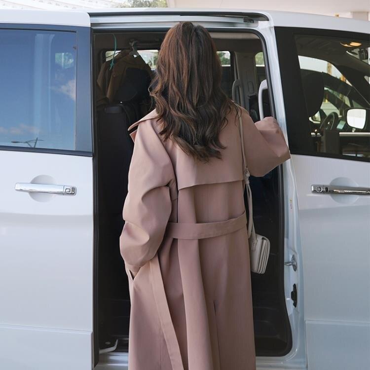 風衣 女士風衣秋季新款正韓氣質大衣英倫風休閒過膝長款時尚外套女凡客名品