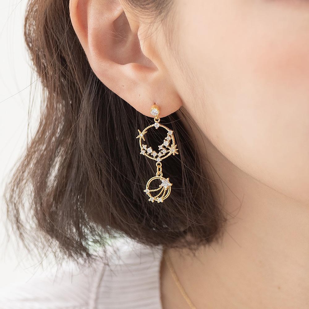 金漾光芒小流星925銀針耳環-A10330