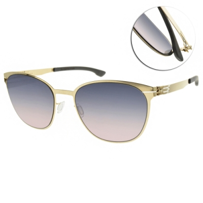 ic!berlin 太陽眼鏡 薄鋼圓框款/金-漸層藍粉鏡片 #ANDREA R. ROSE GOLD