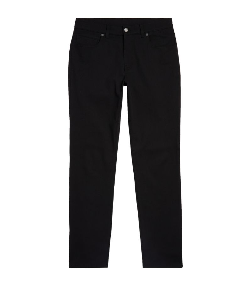 Moschino Cotton Gabardine Slim Trousers