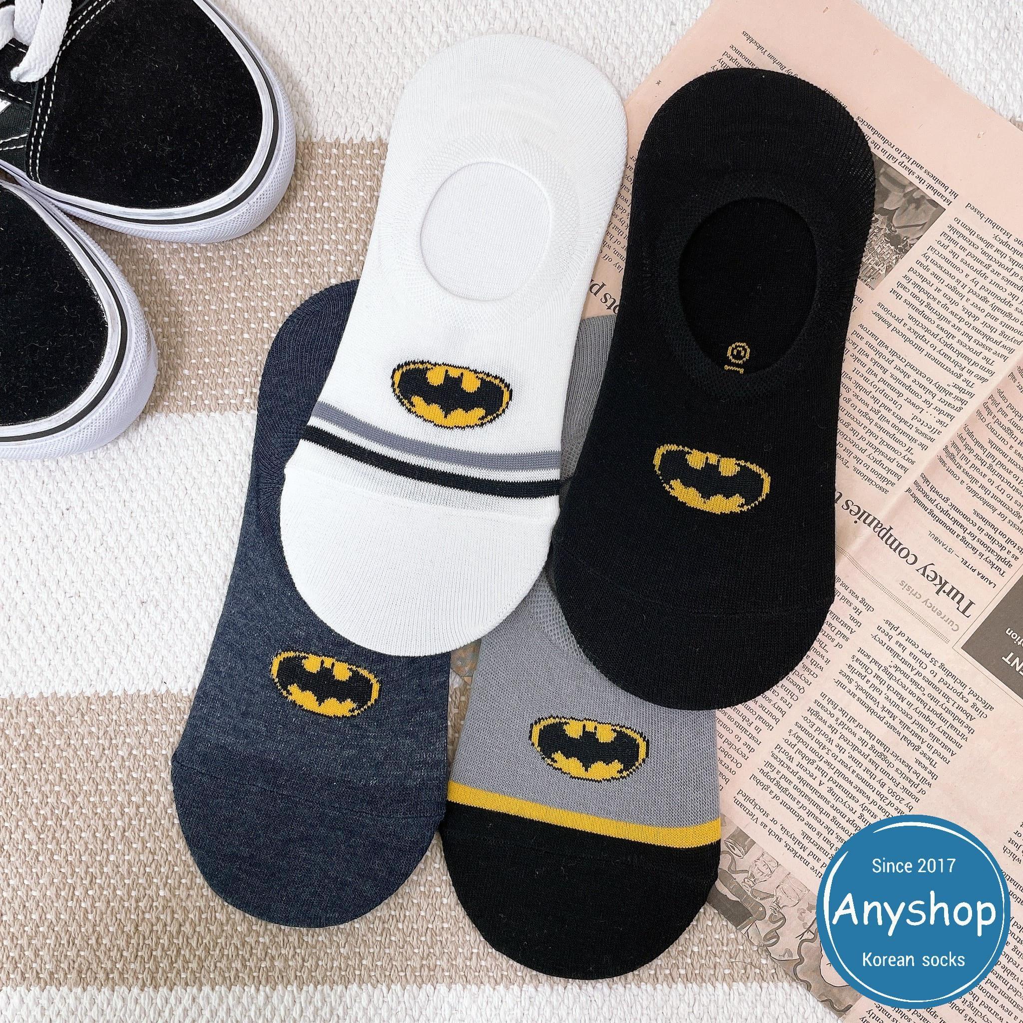 韓國襪-[Anyshop]蝙蝠俠男士船型襪