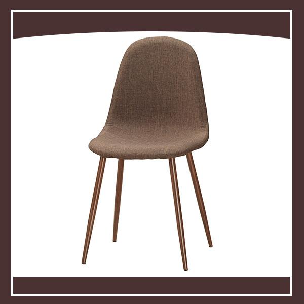 妮莉餐椅(棕色布)(五金腳) 210571064009