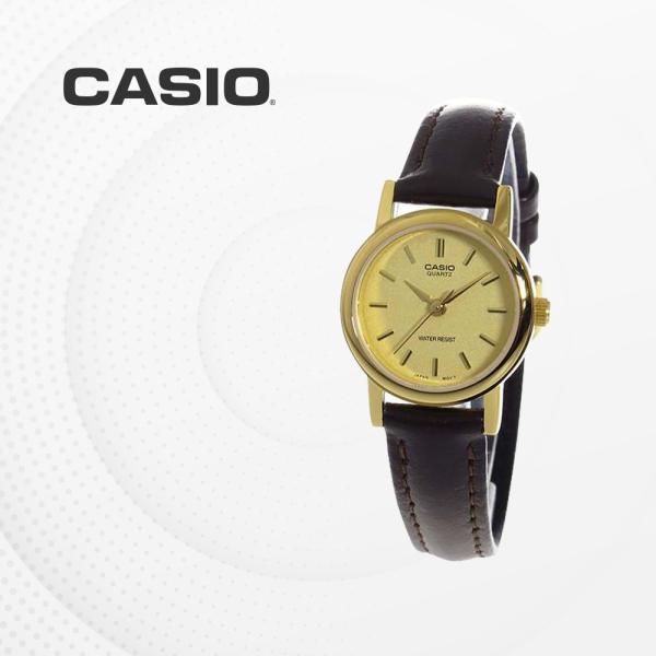 [CASIO] CASIO LTP-1095Q-9A 金色顏色 經典款手錶 皮革橡筋 休閒款手錶 LTP1095Q9A