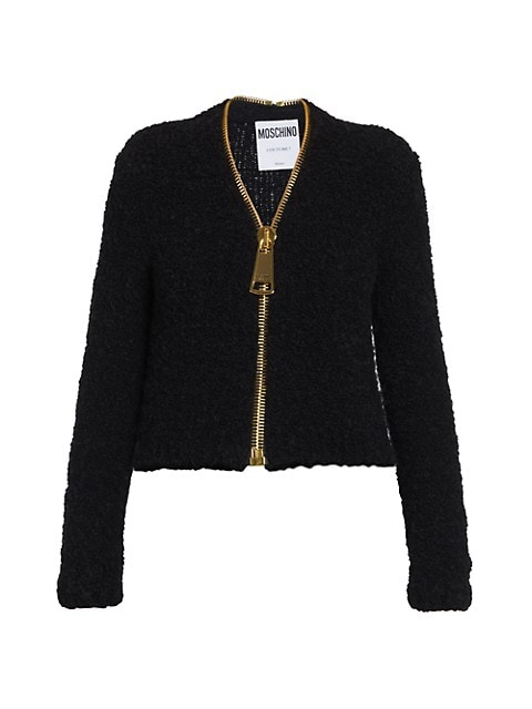Oversized Zip Fuzzy Cardigan