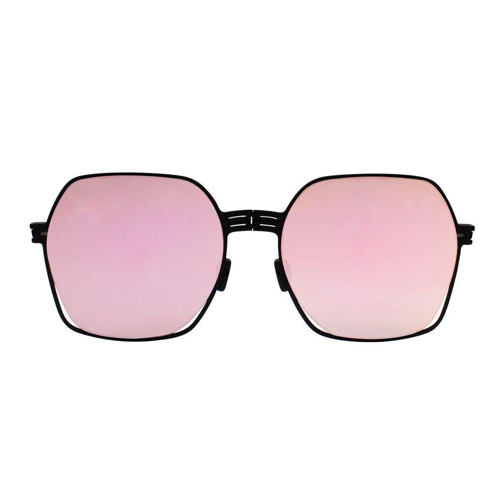 【ROAV】薄鋼太陽眼鏡 折疊墨鏡 SS011 C13.66 粉水銀 美國 OVERSIZE MEGAN 54mm