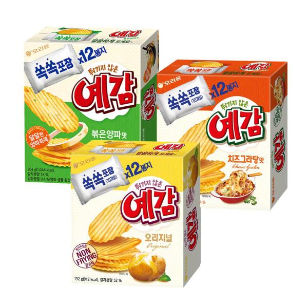 好麗友薯片 炒洋蔥味 204g+焗芝士 204g+原味 192g[共3個]