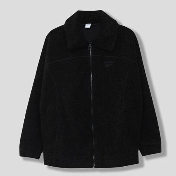 REEBOK CLASSICS FTRS 女裝 外套 休閒 保暖 搖粒絨 毛絨 黑【運動世界】GJ3606