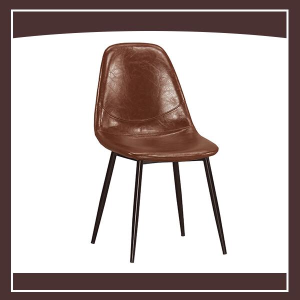 西弗爾餐椅(棕色皮)(五金腳) 210571067010