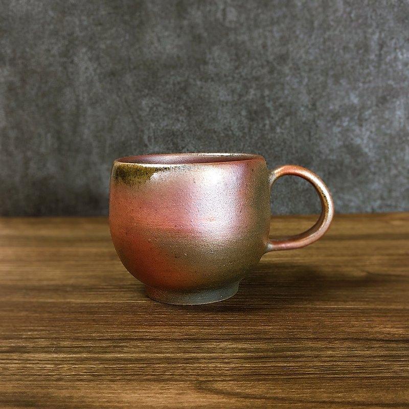 柴燒陶 古樸沉著的大容量咖啡杯 馬克杯-1