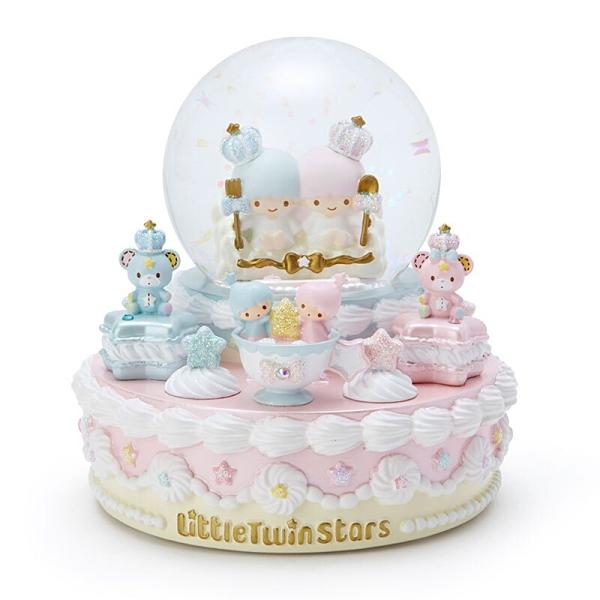 小禮堂 雙子星 造型發光聖誕雪球 聖誕水晶球 玻璃雪球 雪花球 (粉 2020聖誕節) 4550337-84072