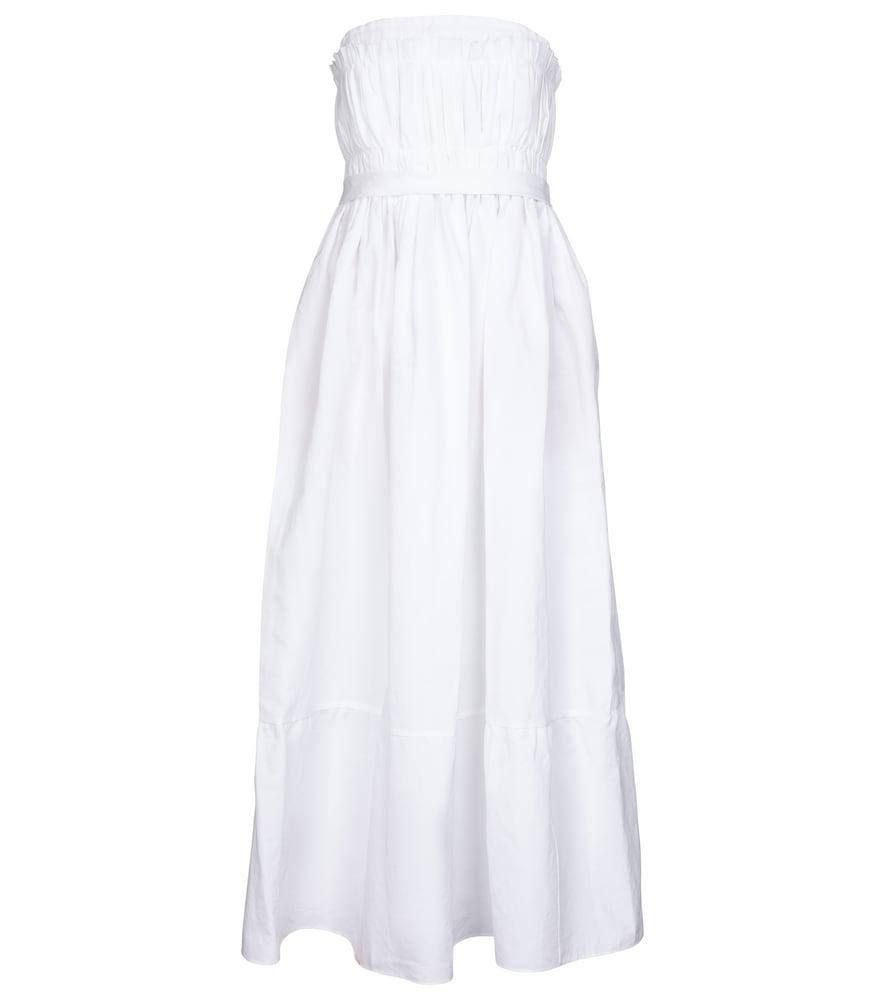 Saura cotton-blend midi dress