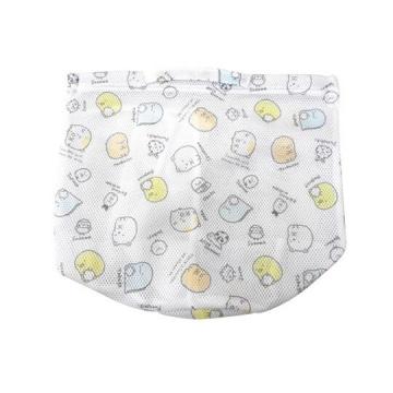 小禮堂 角落生物 圓筒型手提網狀洗衣袋 洗衣網袋 護洗袋 手提網袋 (白 滿版)