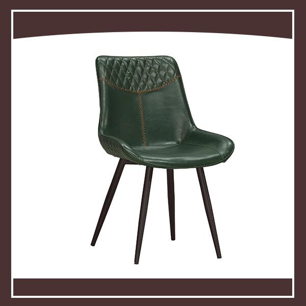 布萊恩餐椅(綠色皮)(五金腳) 210571065012