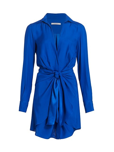 Harper Twist-Front Shirtdress