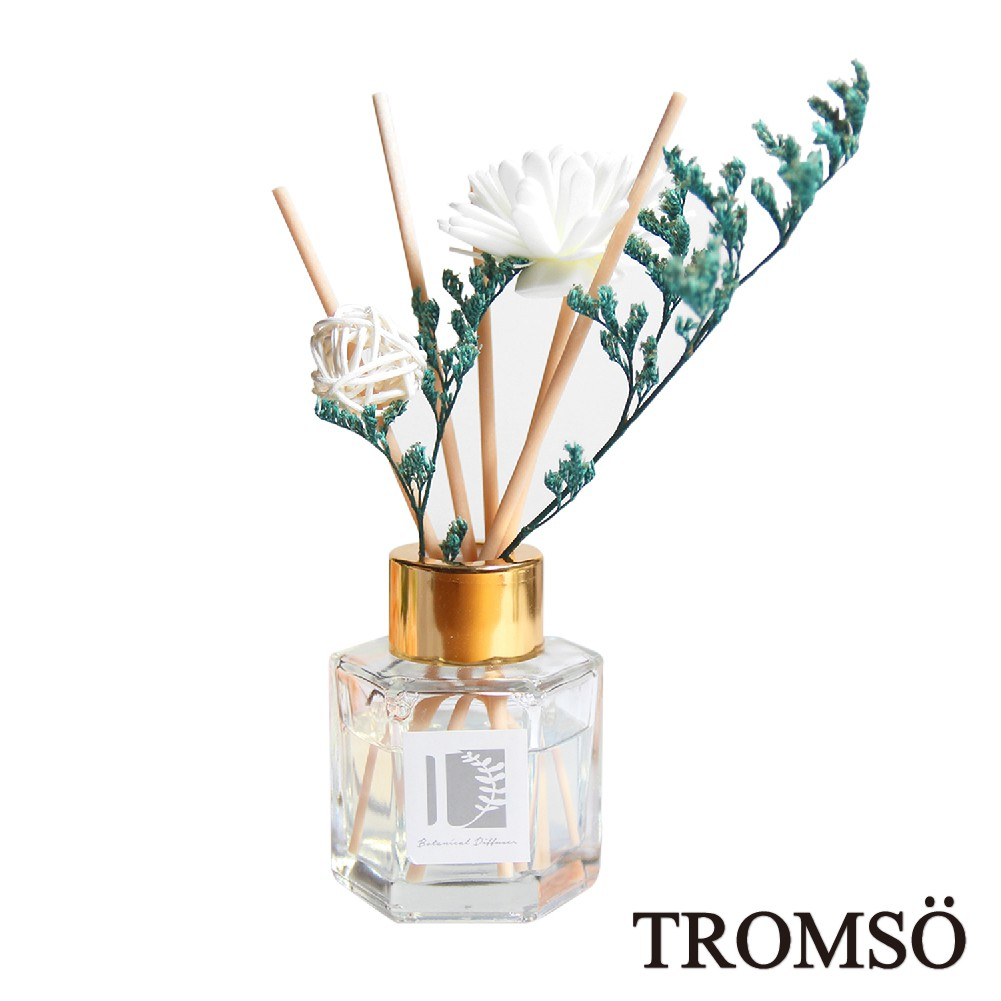 現貨 TROMSO淨白花舞50ml六角竹木精油香氛/擴香瓶 乾燥花 擴香花 室內 玄關 氣氛 花卉 百合 薰衣草 茉莉