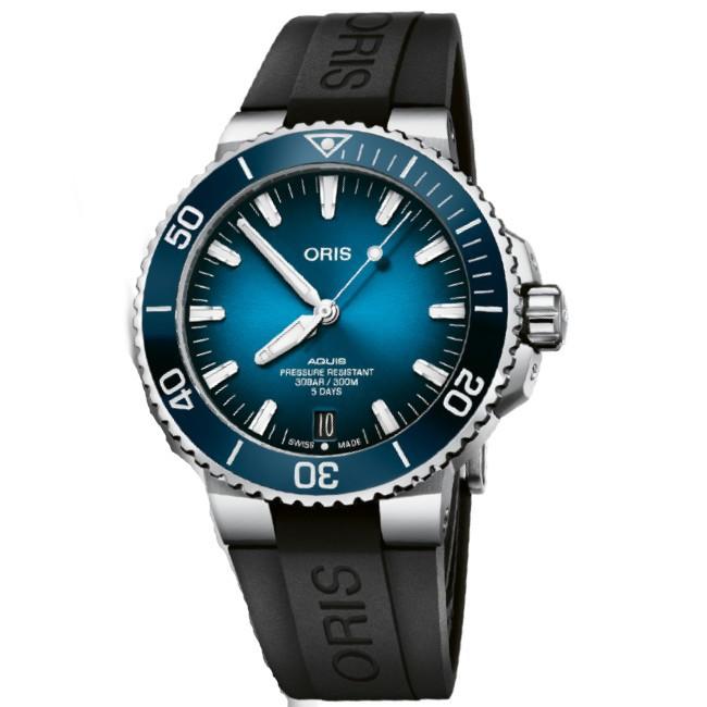 ORIS 豪利時 Calibre 400 0140077634135 自製自動機芯日期潛水機械腕錶/藍 43.5mm